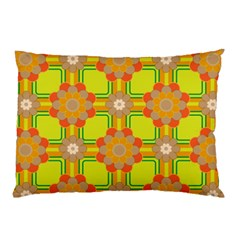 Floral Pattern Wallpaper Background Beautiful Colorful Pillow Case (two Sides) by Simbadda