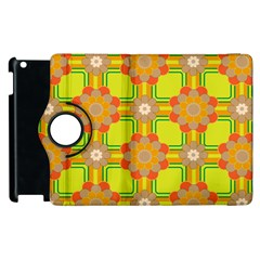 Floral Pattern Wallpaper Background Beautiful Colorful Apple Ipad 2 Flip 360 Case by Simbadda