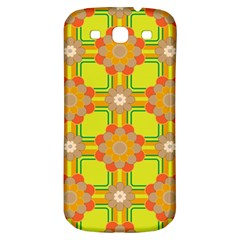 Floral Pattern Wallpaper Background Beautiful Colorful Samsung Galaxy S3 S Iii Classic Hardshell Back Case by Simbadda