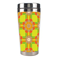 Floral Pattern Wallpaper Background Beautiful Colorful Stainless Steel Travel Tumblers by Simbadda