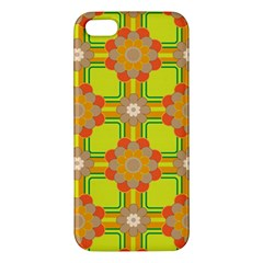 Floral Pattern Wallpaper Background Beautiful Colorful iPhone 5S/ SE Premium Hardshell Case