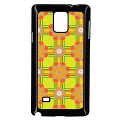 Floral Pattern Wallpaper Background Beautiful Colorful Samsung Galaxy Note 4 Case (black) by Simbadda