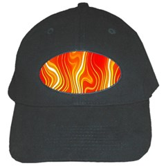 Fire Flames Abstract Background Black Cap by Simbadda