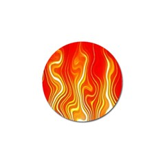 Fire Flames Abstract Background Golf Ball Marker (4 Pack) by Simbadda