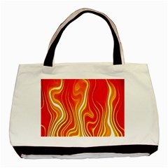 Fire Flames Abstract Background Basic Tote Bag by Simbadda