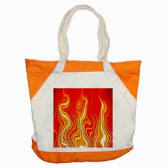 Fire Flames Abstract Background Accent Tote Bag by Simbadda
