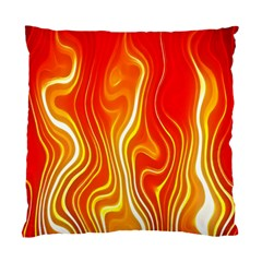 Fire Flames Abstract Background Standard Cushion Case (one Side) by Simbadda