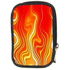 Fire Flames Abstract Background Compact Camera Cases by Simbadda