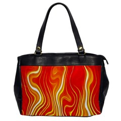 Fire Flames Abstract Background Office Handbags by Simbadda