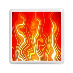 Fire Flames Abstract Background Memory Card Reader (square)  by Simbadda