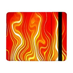 Fire Flames Abstract Background Samsung Galaxy Tab Pro 8 4  Flip Case by Simbadda