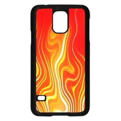 Fire Flames Abstract Background Samsung Galaxy S5 Case (black) by Simbadda