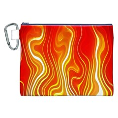 Fire Flames Abstract Background Canvas Cosmetic Bag (xxl) by Simbadda