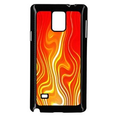 Fire Flames Abstract Background Samsung Galaxy Note 4 Case (black) by Simbadda