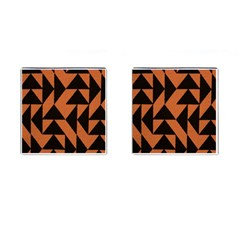 Brown Triangles Background Cufflinks (square) by Simbadda
