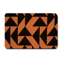 Brown Triangles Background Small Doormat  by Simbadda