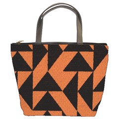 Brown Triangles Background Bucket Bags by Simbadda