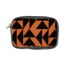 Brown Triangles Background Coin Purse by Simbadda
