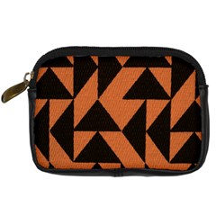 Brown Triangles Background Digital Camera Cases by Simbadda