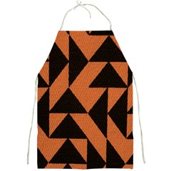 Brown Triangles Background Full Print Aprons by Simbadda