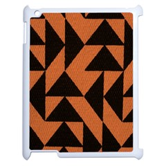 Brown Triangles Background Apple Ipad 2 Case (white) by Simbadda