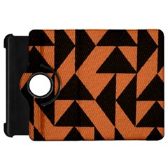 Brown Triangles Background Kindle Fire Hd 7  by Simbadda