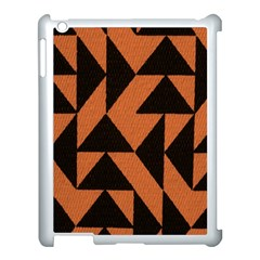 Brown Triangles Background Apple Ipad 3/4 Case (white) by Simbadda