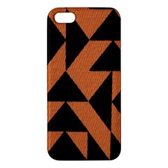 Brown Triangles Background Apple Iphone 5 Premium Hardshell Case by Simbadda