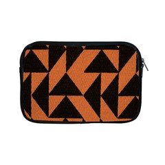 Brown Triangles Background Apple Ipad Mini Zipper Cases by Simbadda
