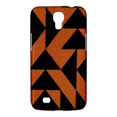 Brown Triangles Background Samsung Galaxy Mega 6 3  I9200 Hardshell Case by Simbadda