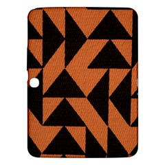Brown Triangles Background Samsung Galaxy Tab 3 (10 1 ) P5200 Hardshell Case  by Simbadda