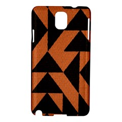 Brown Triangles Background Samsung Galaxy Note 3 N9005 Hardshell Case by Simbadda