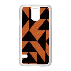 Brown Triangles Background Samsung Galaxy S5 Case (white) by Simbadda