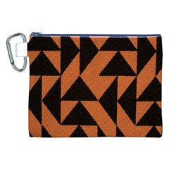 Brown Triangles Background Canvas Cosmetic Bag (xxl) by Simbadda