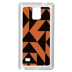 Brown Triangles Background Samsung Galaxy Note 4 Case (white) by Simbadda