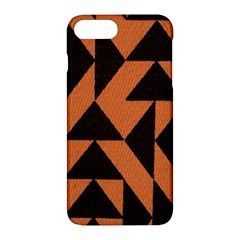 Brown Triangles Background Apple Iphone 7 Plus Hardshell Case by Simbadda