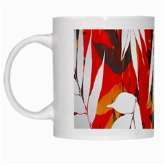Leaves Pattern Background Pattern White Mugs by Simbadda
