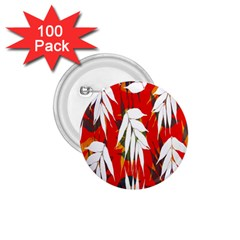 Leaves Pattern Background Pattern 1 75  Buttons (100 Pack)
