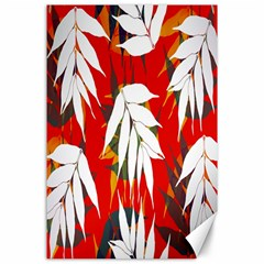 Leaves Pattern Background Pattern Canvas 24  X 36  by Simbadda
