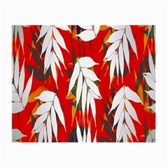 Leaves Pattern Background Pattern Small Glasses Cloth (2 Side) by Simbadda