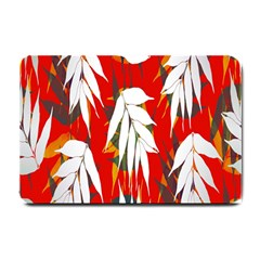 Leaves Pattern Background Pattern Small Doormat  by Simbadda
