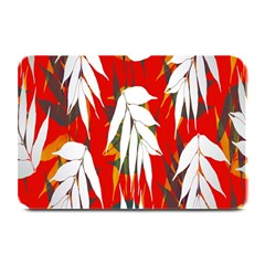 Leaves Pattern Background Pattern Plate Mats by Simbadda