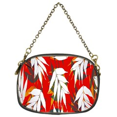 Leaves Pattern Background Pattern Chain Purses (one Side)  by Simbadda