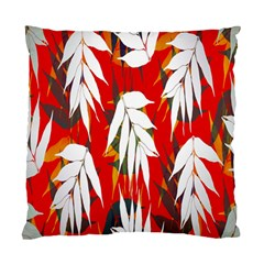 Leaves Pattern Background Pattern Standard Cushion Case (two Sides) by Simbadda