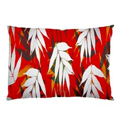 Leaves Pattern Background Pattern Pillow Case by Simbadda