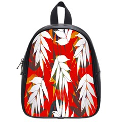 Leaves Pattern Background Pattern School Bags (small)  by Simbadda