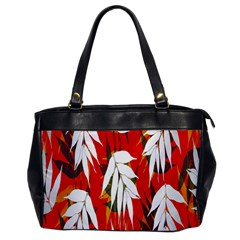 Leaves Pattern Background Pattern Office Handbags by Simbadda