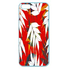 Leaves Pattern Background Pattern Apple Seamless Iphone 5 Case (color) by Simbadda