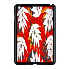 Leaves Pattern Background Pattern Apple Ipad Mini Case (black) by Simbadda