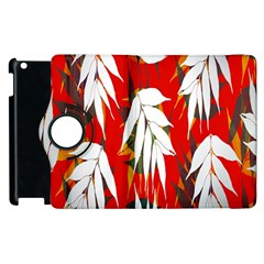 Leaves Pattern Background Pattern Apple Ipad 2 Flip 360 Case by Simbadda